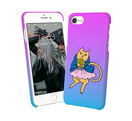 Cat Waffles Stranger Dance_010307 Protective Phone Mobile SmartphoneCase Cover Hard Plastic For iPhone 7 iPhone 7s Funny Gift Christmas