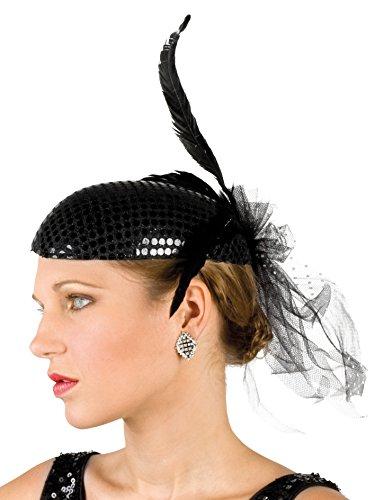 Boland 04136 - Kopfbedeckung Charleston für Erwachsene, Einheitsgröße, schwarz