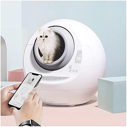 MEILINL Lettiera per Gatti Autopulente Toilette per Gatti Automatica Completamente Chiusa con Sensore Antipizzicamento Facile da Pulire con Un Solo Pulsante Stile di Design Semplice E Moderno