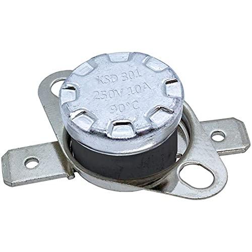 Interruptor térmico 90°C Contacto NO 250V 10A Cambio de temperatura termostato KSD301 Bimetal...