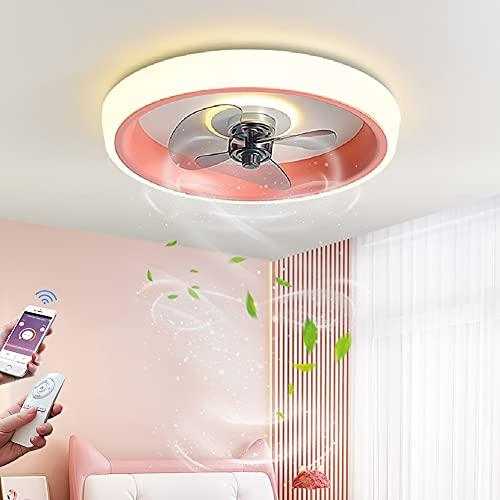 Ventilador de Techo con Luz y mando a Distancia LED 72W Regulable Lámpara de Techo Moderna Silencioso Luz Del Ventilador con App Control para salón dormitorio comedor Ventilador de Iluminación