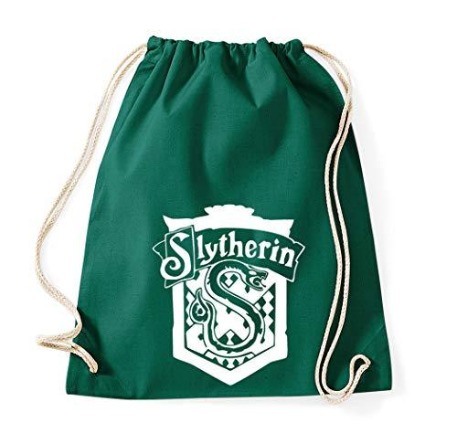 Youth Designz Turnbeutel Modell Slytherin Wappen Beutel Farbe Flaschengrün