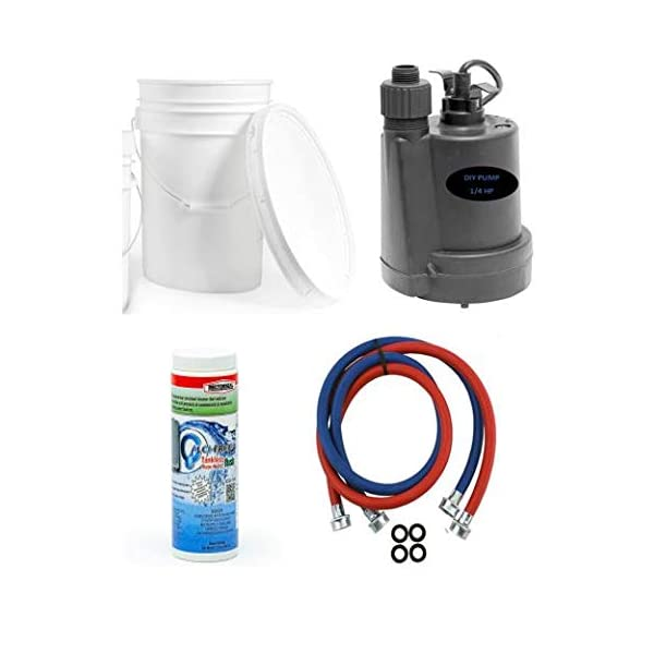 DIY Complete Tankless Water Heater Flushing Kit with Descaler