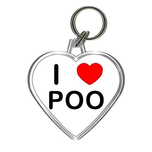 I Love Poo - Heart Shaped Key Ring