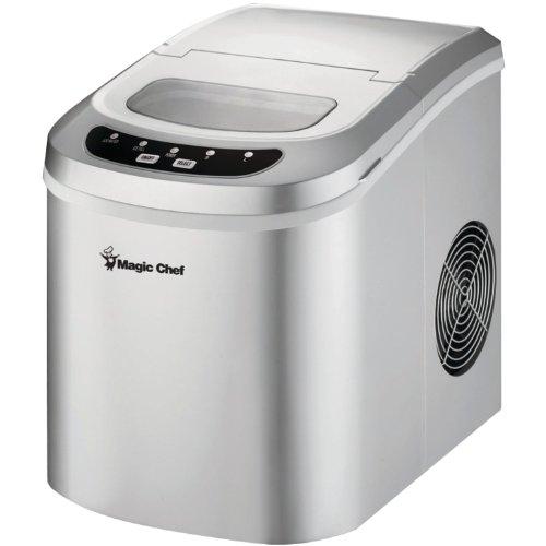 Magic Chef 27-Lb. Portable Silver Countertop Ice Maker