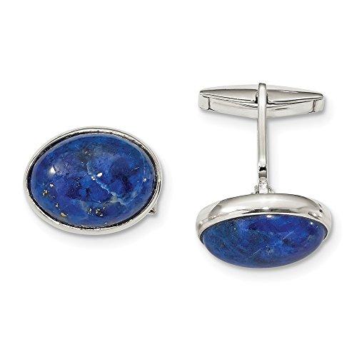 925 Sterling Silver Cabochon Lapis Cuff Links Mens Cufflinks Link Man Fine Jewelry For Dad Mens Gifts For Him
