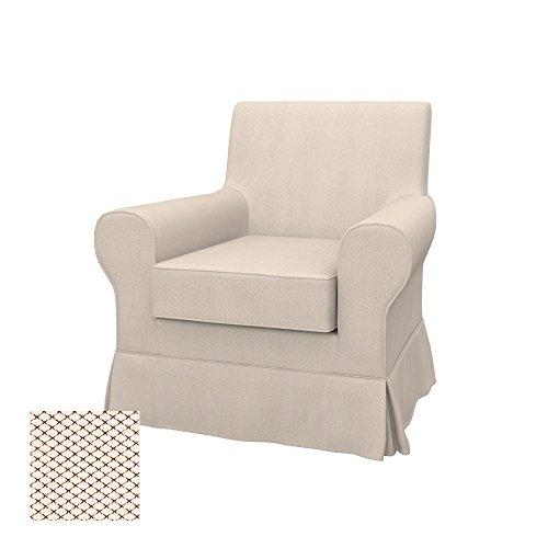 Soferia - IKEA EKTORP JENNYLUND Funda para sillón, Nordic Creme