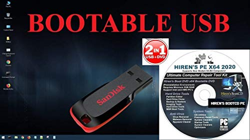 New Hirens Boot CD 16.2 Tool to Fix & Repair All PC Problems LIVE BOOTABLE Version with 16 GB USB Pendrive & DVD