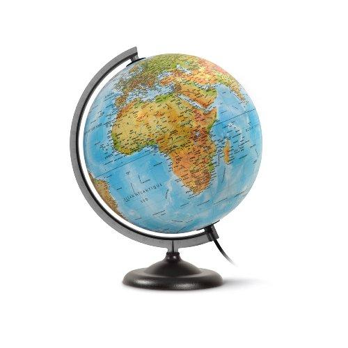Jpc Créations WONDAY Globe en kit prêt à monter lumineux sphère 30 cm Bleu
