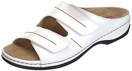 Berkemann Daria, Zapatillas de Estar por casa con talón Abierto Mujer, Blanco, 35.5 EU
