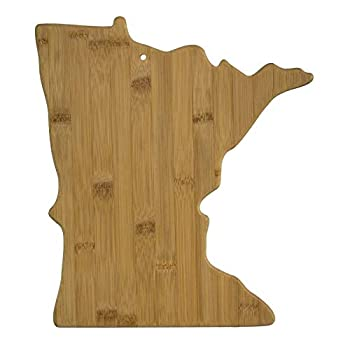 Totally Bamboo Minnesota State Shaped Serving & Cutting Board Natural Bamboo