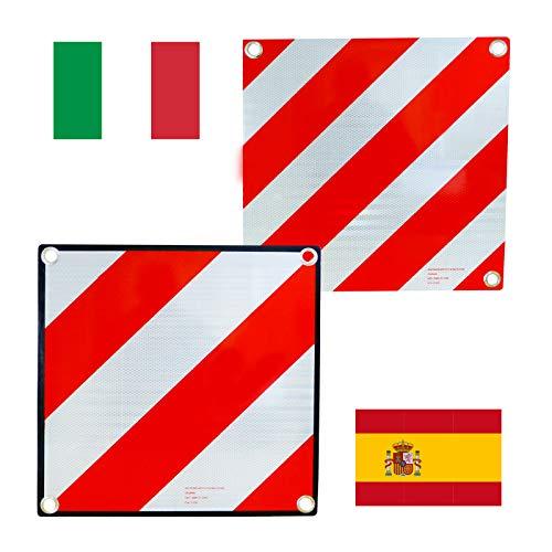 HP Autozubehör 25132 Warntafel 2 in 1-Italien und Spanien, Rot/Weiß