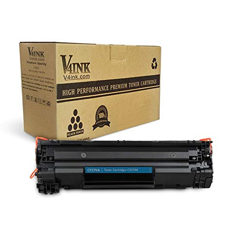 V4INK Compatible Toner Cartridge Replacement for HP 79A CF279A (Black, 1-Pack), for use in HP LaserJet Pro M12w M12a HP MFP M26nw M26a Printers