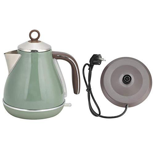 Hervidor de agua eléctrico de acero inoxidable, 1,7 l, estilo retro, olla...