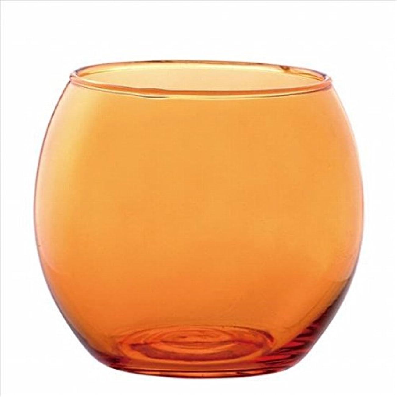 国家勃起島カメヤマキャンドル( kameyama candle ) スフィアキャンドルホルダー 「 オレンジ 」