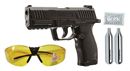 Umarex MCP .177 Caliber BB Gun Air Pistol Kit - Includes BBS, CO2 Cartridges, and Safety Glasses