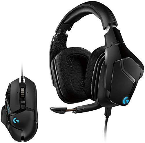 Logitech G635 LYGHTSYNC RGB-Gaming-Headset + G502 Hero High-Performance Gaming Maus, Hero 16000 DPI Optischer Sensor, RGB-Beleuchtung, Gewichtstuning, 11 Programmierbare Tasten