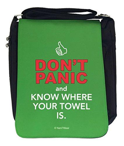 NaniWear Hitchhiker's Guide to the Galaxy Medium Geek Messenger Bag Don't Panic