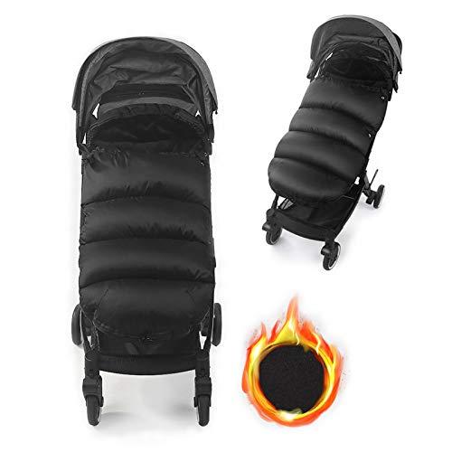 LIBRNTY Fußsäcke für Kinderwagen,Winter Fußsack für,Neues Upgrade im Jahr 2020,Dicker Stoff,Wasserdicht und Winddicht, Geeignet für Babyschale,Babywiege,Geeignet für Alter 0-3(schwarz)