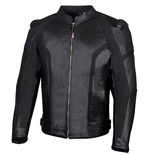 Men's Premium Natural Buffalo Leather Cruiser CE Armor Motorcycle Touring Street Racing Biker Jacket...