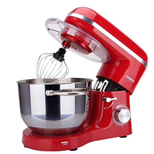 Arebos - Robot de cocina 1500 W con cuenco de acero inoxidable...