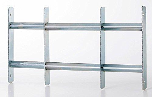 Fenstergitter Absturzsicherung Sicherheitsgitter 2Streben ausziehbar 50-65x30 cm