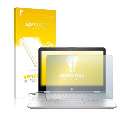 upscreen Entspiegelungs-Schutzfolie kompatibel mit HP Pavilion x360 14-ba108ng – Anti-Reflex Bildschirmschutz-Folie Matt