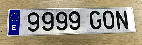 Gonplac Matrícula Metálica Coche Homologada 52 x 11 CM