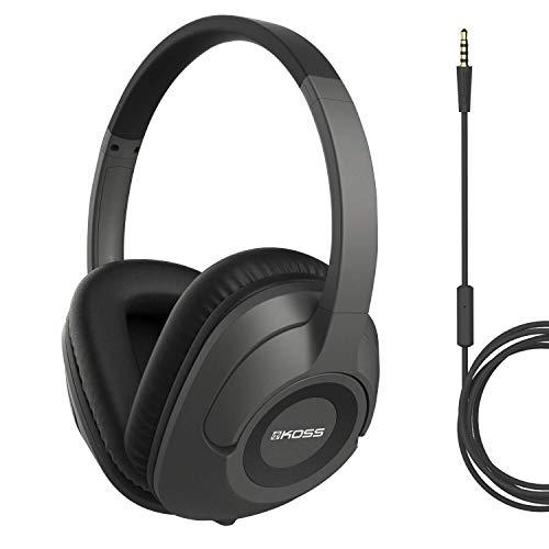 Koss UR42iK - Cuffie sovrauricolari (jack 3,5 mm) per iMac/iPhone/iPad/iPod/Laptop/lettori MP3/Samsung/smartphone, colore: Nero