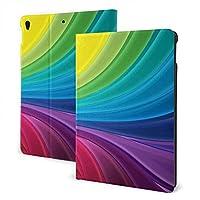 SORA カラフル 虹 iPad Mini第4 / 5世代用ケース 高耐久スマートケース Apple Pencil用ホルダー内蔵 瞬時オンオフマグネットスタンドカバー 人間工学 耐衝撃 丈夫