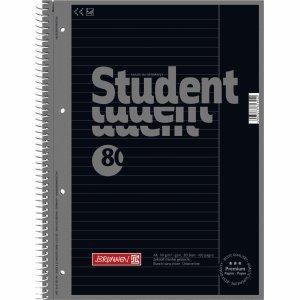 Brunnen 10 x Kollegblock Student Colour Code A4 90g/qm 80 Blatt Onyx Lineatur 25