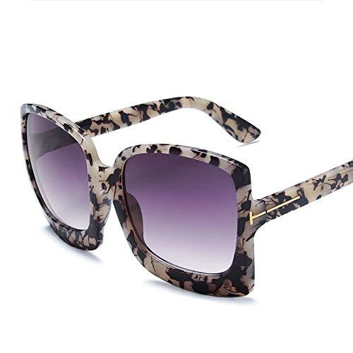 WDDYYBF Sonnenbrille Für Damen Herren,Klassische Sonnenbrille Farben Vintage Retro Big Frame Sonnenbrille Mit Blume Streetshot Catwalk Brille Sonnenbrille Uv-Schutz Sonnenbrille Am Strand
