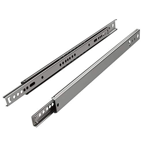 SOTECH 1 Paar (2 Stück) Teilauszug KT2-15-H27-L342-NF Höhe 27 mm, Länge 342 mm Schubladenauszüge belastbar bis 15 Kg