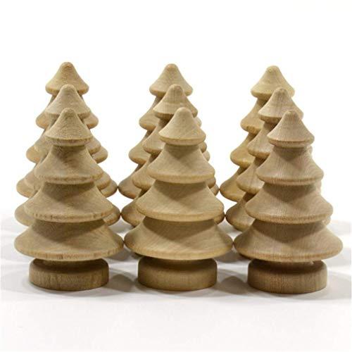 10 piezas de muñeca de madera sin terminar bricolaje manualidades árbol de Navidad muñecas artesanía decoración del hogar ornamento muy popular y útil