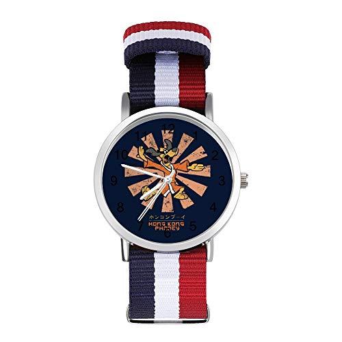Hong Kong Phooey Retro Japonés Ocio Correa Relojes Trenzado Reloj con Escala
