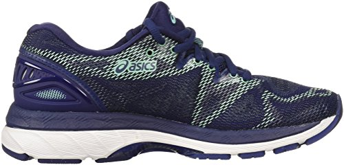 ASICS Women's Gel-Nimbus 20 Running Shoe, indigo blue/indigo blue/opal green, 7 Medium US 2