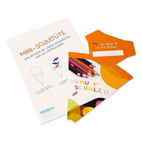 Minischultüte/orange/Stifte/Viel Spaß in der Schule