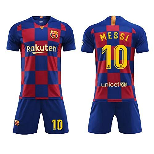 Barcelona thuis en uit voetbalshirt volwassen ouder-kind shirt Messi voetbalshirt met nummerclub jersey wedstrijdshirt