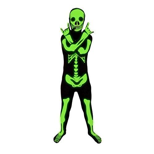 Morphsuits - Enfants Squelette Brillant Pour Hauteur 120-135 Cm - Taille M