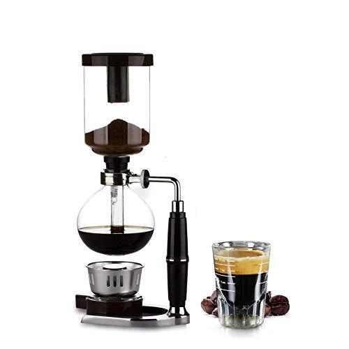 YYBF 5 Tasse Kaffee Syphon Maschine,Vakuum Kaffeebereiter,Kaffeemaschine,für Kaffee und Tee mit Extended Griff