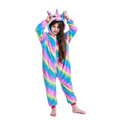 Kids Halloween Animal Cosplay Costumes Pajamas Christmas Children Rainbow Galaxy Unicorn Onesie Birthday Gifts(2-4 Years)