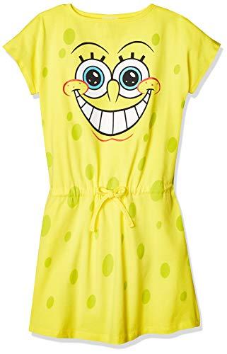 E-Fashion Camisón de Bob Esponja para niña Muy Suave y cómodo para Dormir (12 años)