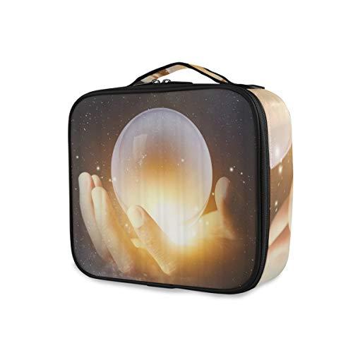 SUGARHE Geschäftsmann Hand Holding Crystal Clear Ball mit Galaxie Universum Raum...