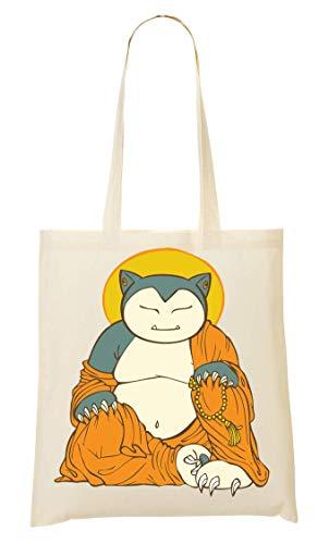 Wicked Design Snorlax Buddha Tragetasche Einkaufstasche