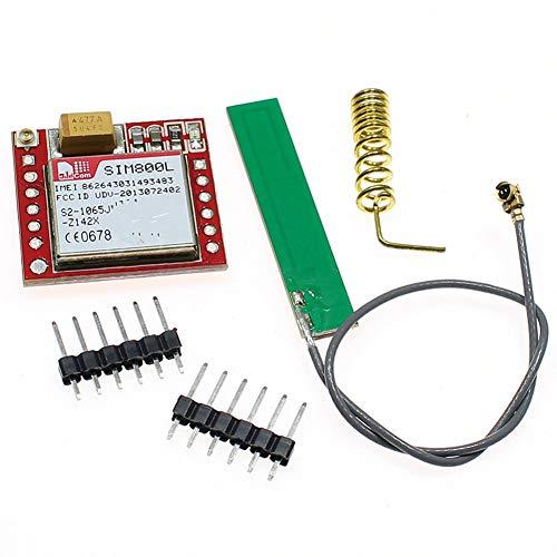 armine88 Modulo gsm GPRS Mini Accessaries Wireless 3.7V-4.2V MicroSIM Card Porta seriale Ttl Scheda SIM800L Quad-Band Professional Il GPS più Piccolo(with Antenna)