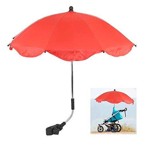 Demeras Multifuncional Niños Cochecito Sombra Niños Cochecito Sol Sombra para bicicletas (paraguas rojo)
