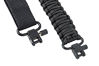 Ace Two Tactical Gun Sling 550 Paracord Rifle or Shotgun 2 Point Extra Strong Multi Use Black