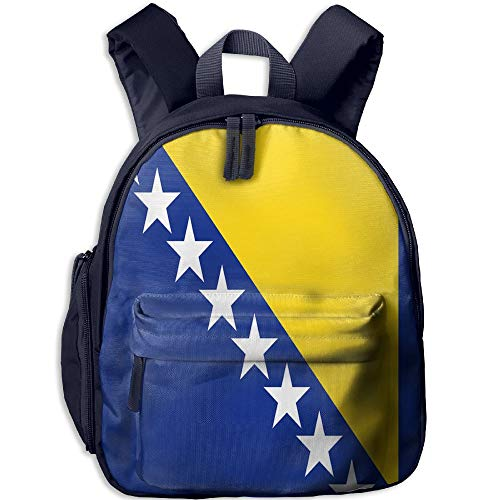 CHAN03 Children's School Bag Travel Student Backpack Girl Bosnian Flag 3D Printing Backpack