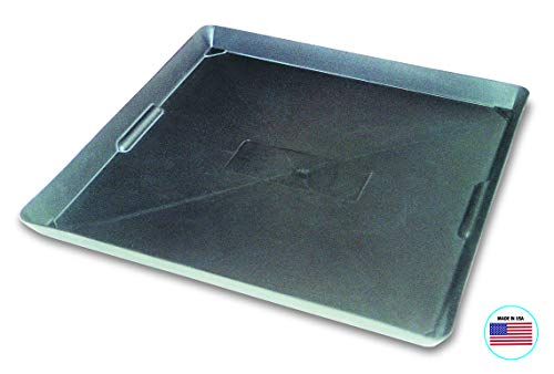 WirthCo 40092 Funnel King Drip Tray - Black Plastic 22 x 22 x 1.5 Inches - Perfect for Catching Spills or Leaks from Mini Fridges, Air Conditioners, Automotive, and Machinery