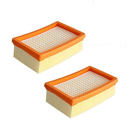 Flachfaltenfilter für Kärcher WD4, WD5, WD6, MV4, MV5, MV6 Mehrzweck-Staubsauger, Nass- & Trockensauger, Ersatzzubehör, 2 Stück